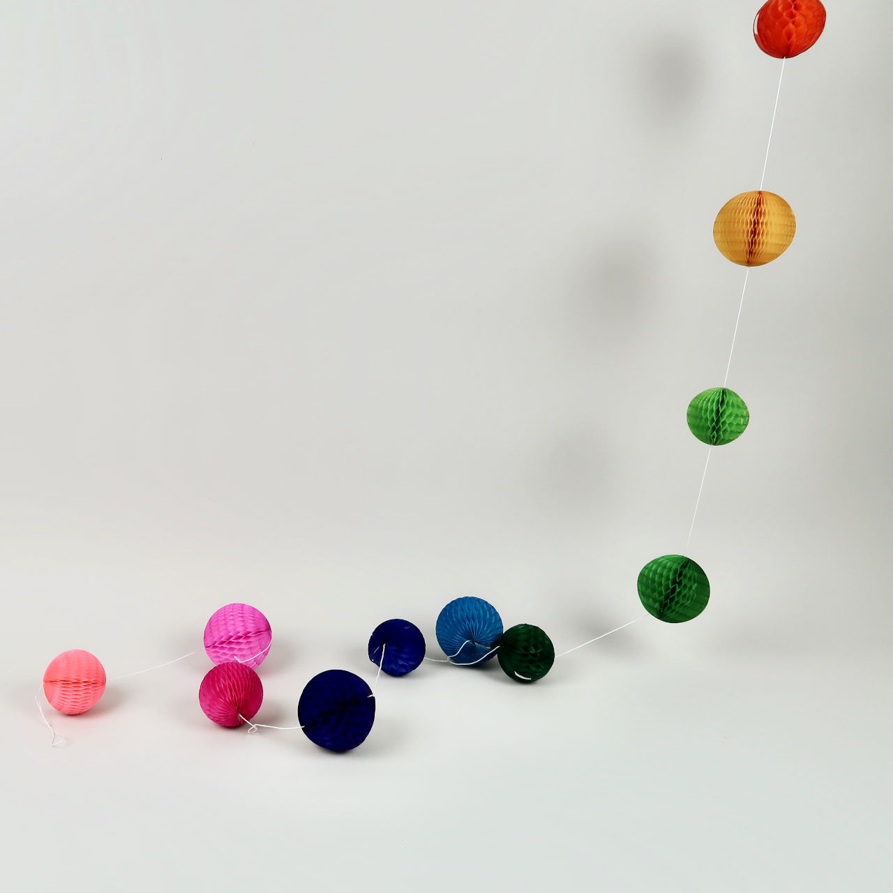 Honeycomb Ball Garland - 2m - Rainbow Bright