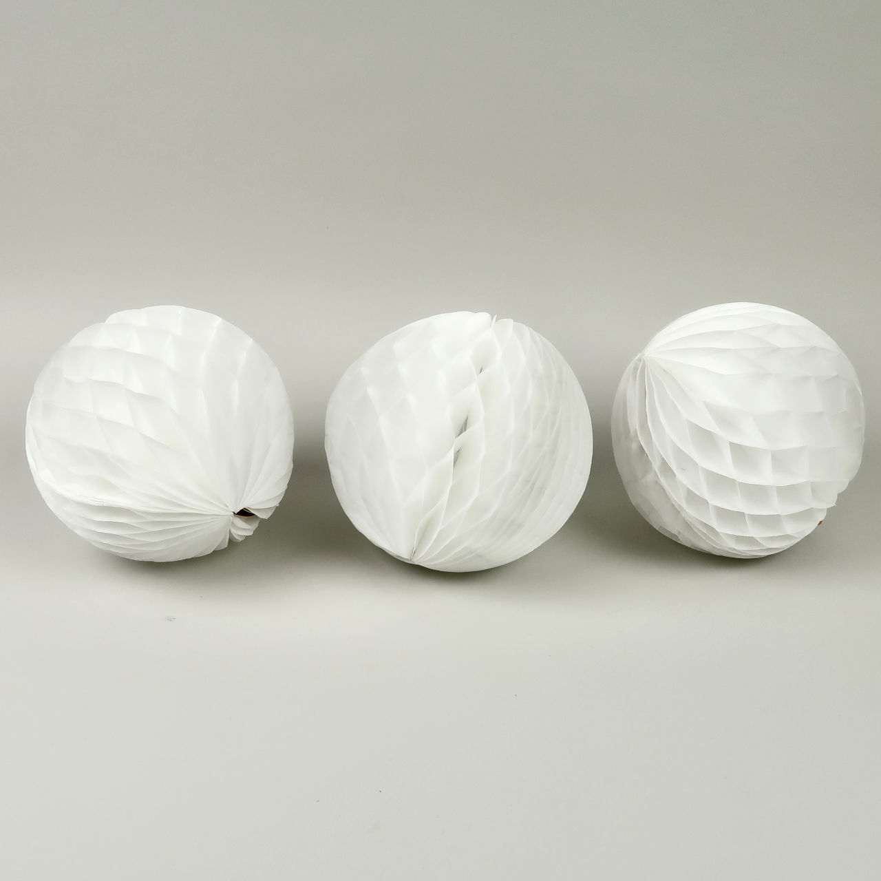 Honeycomb Paper Ball - 15cm Diameter - Pack of 3 - White