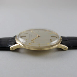 Patek Philippe Ref. 3484 gold vintage wristwatch, made in 1964 and sold May 14th, 1965