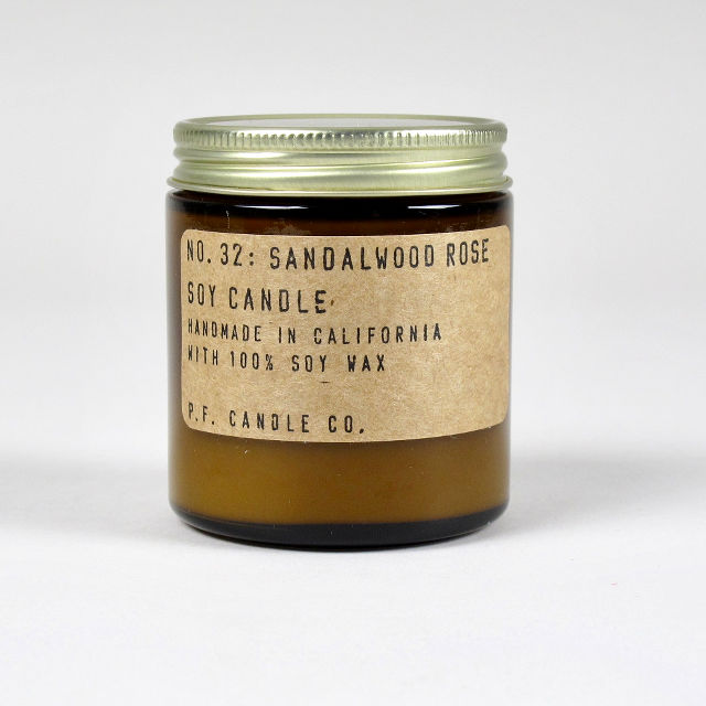 Sandalwood Rose Scented Candle - Small