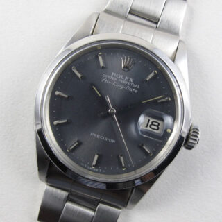 Rolex Oyster Perpetual Air-King-Date Precision Ref. 5700 steel vintage wristwatch, dated 1972