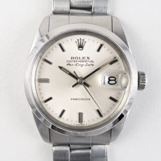 Rolex Oyster Perpetual Air-King-Date Ref. 5700 steel vintage wristwatch, dated 1966