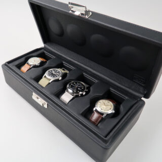 Scatola del Tempo Valigetta 4   leather watch case for four watches