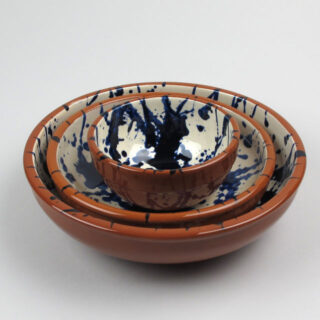 Terracotta Splatter Ware Bowl - Deep