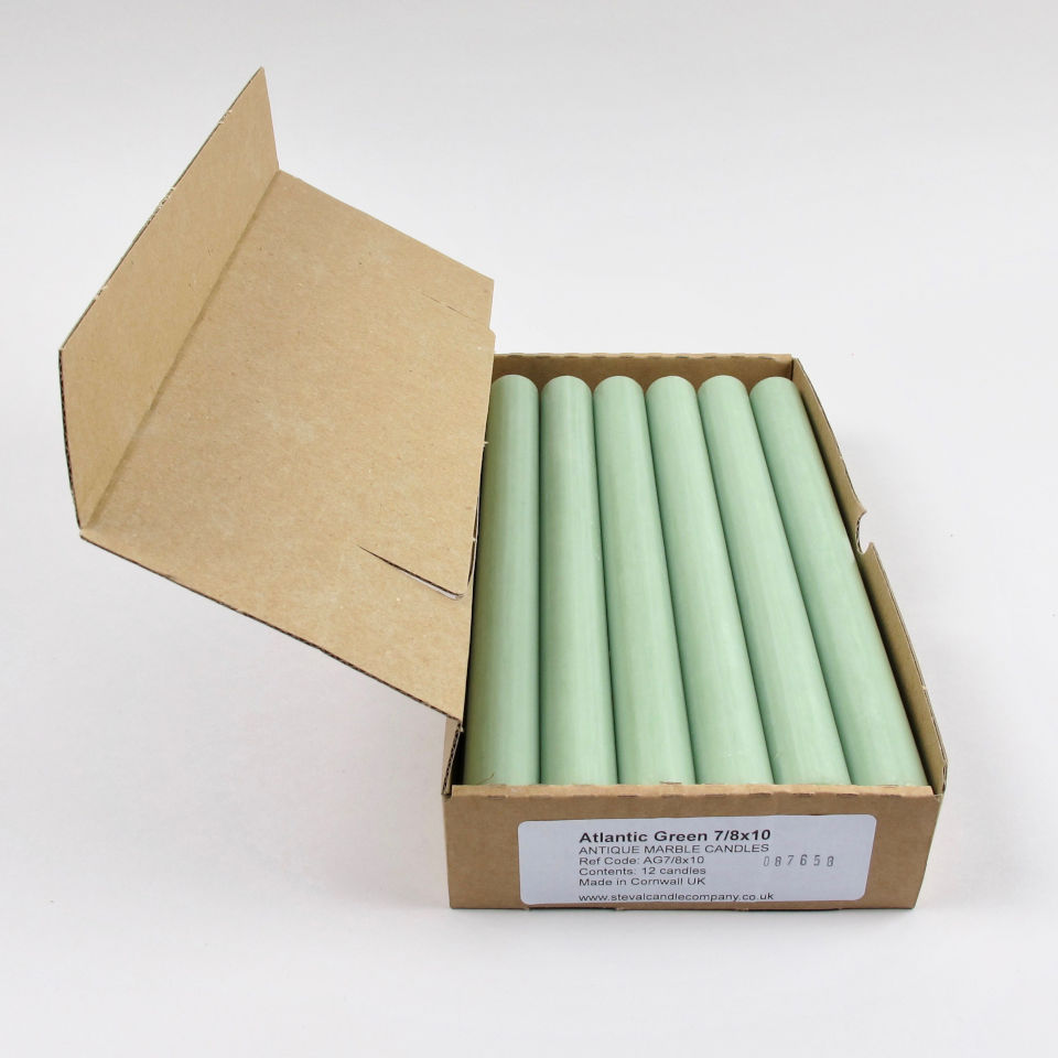 Box of 12 Candles - Atlantic Green