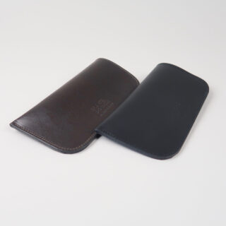 Leather Glasses Case - Brown