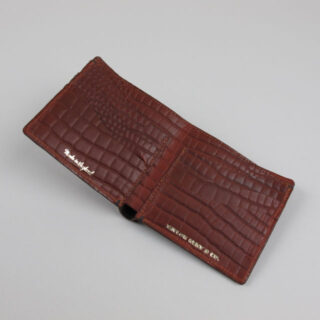Leather Wallet with Crocodile Grain