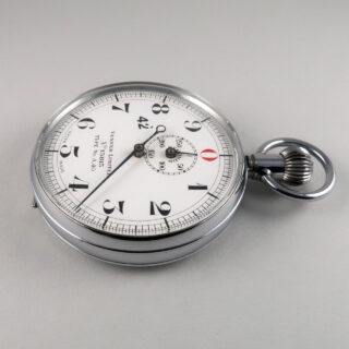 Venner Type No. A40 vintage nickel chrome stop watch, circa 1950s
