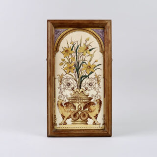 Framed Victorian Tile Panel
