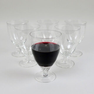 Box of 6 Bistro Wine Glasses with Etched Stars