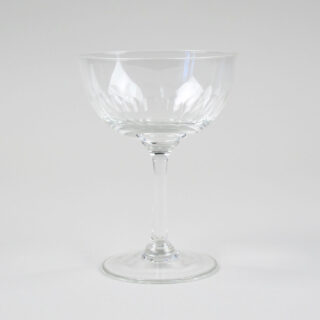 Champagne Coupe with etched 'Lens' Design